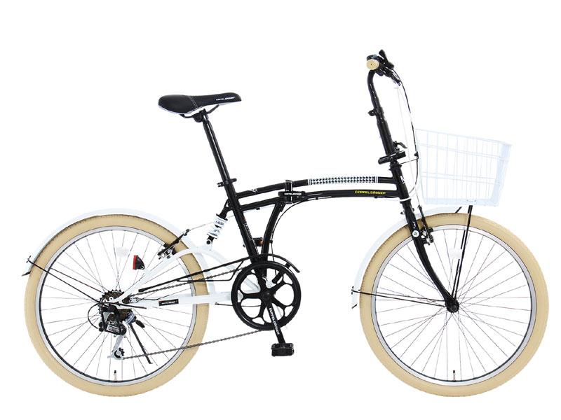 【送料無料】DOPPELGANGER(ドッペルギャンガー) 24インチ 折りたたみ自転車 7段変速 m6-24 5カラー【代引不可】