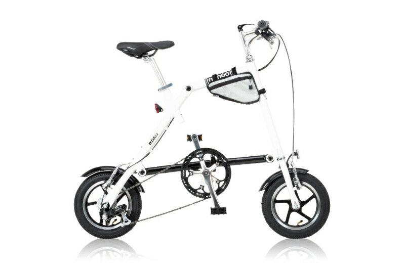 【送料無料】NANOO 12インチ 折りたたみ自転車 FD-1207 ホワイト 18361 7段変速 【代引不可】