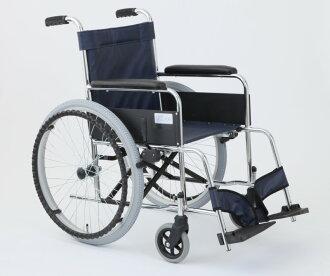 美和自走式的轮椅利兹皮革海军蓝色 MW 22 19206