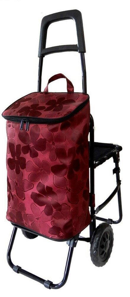ショッピングカート 椅子付き ジャガード-1エンジ BC-0225-1【あす楽対応】