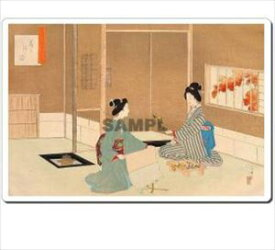 【メール便発送】浮世絵マウスパッド 11010 水野年方 茶の湯日々草 花を活る図 Japan Ukiyoe MousePad【代引不可】