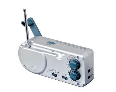 手回し充電ラジオ&ライト HR-001【あす楽対応】