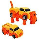 変形ドライブカー 犬 イエロー 走っている途中に車が犬に変形するおもちゃ【あす楽対応】