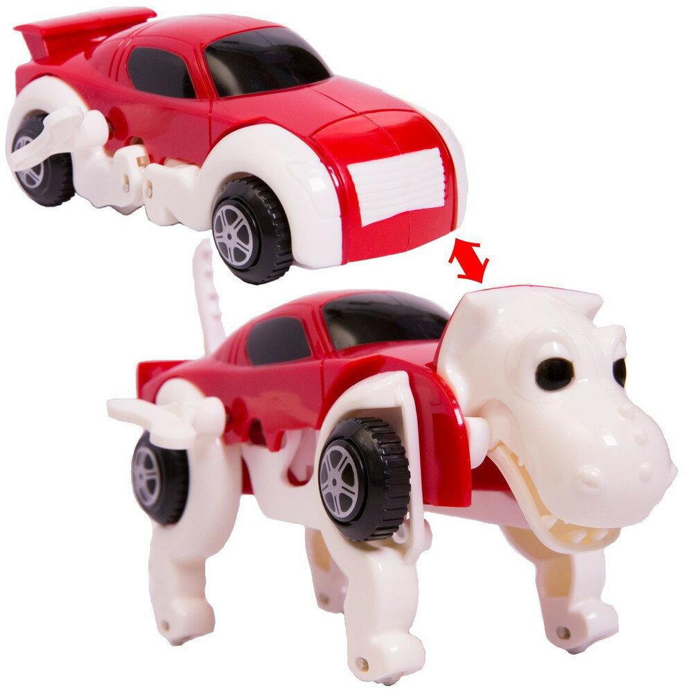 変形ドライブカー 恐竜 レッド 走っている途中に車が恐竜に変形するおもちゃ【あす楽対応】