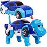 変形ドライブカー 恐竜 ブルー 走っている途中に車が恐竜に変形するおもちゃ【あす楽対応】
