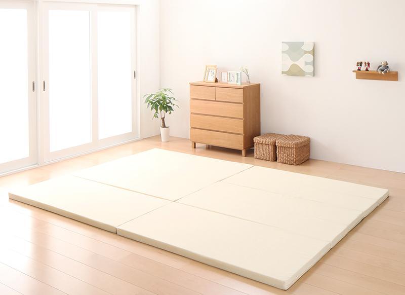 【送料無料】日本製 ソファになるから収納いらず 3サイズから選べる家族で寝られるファミリーマットレス ワイドK200 アイボリー【代引不可】