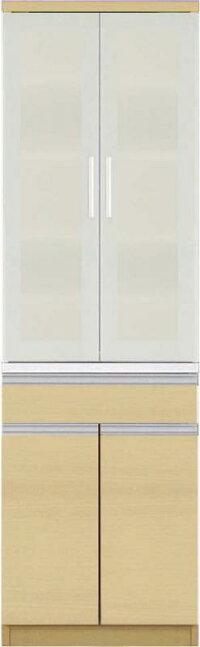 【送料無料】大型レンジ対応清潔感のある印象が特徴のキッチン収納シリーズEthicaエチカダイニングボード単品高さ193ホワイト【代引不可】