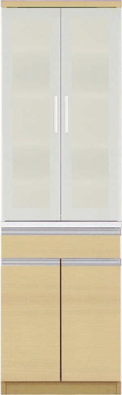 【送料無料】大型レンジ対応 清潔感のある印象が特徴のキッチン収納シリーズ Ethica エチカ ダイニングボード単品 高さ193 ブラウン【代引不可】