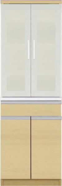 【送料無料】大型レンジ対応清潔感のある印象が特徴のキッチン収納シリーズEthicaエチカダイニングボード単品高さ178ホワイト【代引不可】