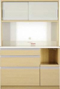 【送料無料】大型レンジ対応清潔感のある印象が特徴のキッチン収納シリーズEthicaエチカキッチンボード幅120高さ178ホワイト【代引不可】