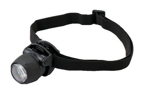 ヤザワ 防滴型 クリップ付 3LEDミニヘッドライト ブラック LZ40BK