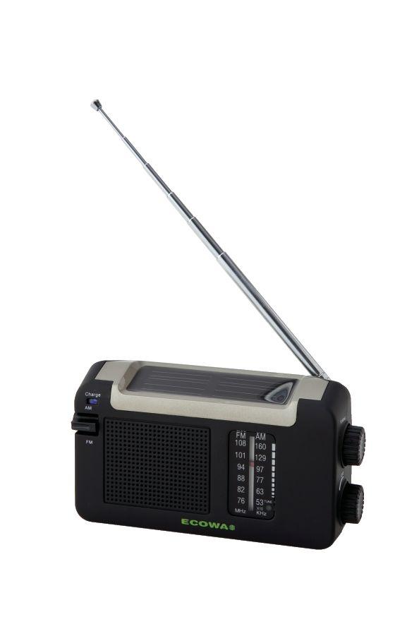 ヤザワ 手回し・ソーラー・USB充電式 電池が不要!AM/FMラジオ BL109RMSDBK 6566au