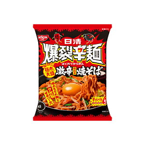 日清 爆裂辛麺 韓国風 極太大盛激辛焼そば 130g×12個入り×2箱(計24個) (KT)