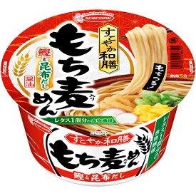 エースコック すこやか和膳 もち麦めん 鰹と昆布だし 80g×12個入り (1ケース) (MS)