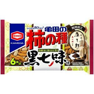 亀田製菓 亀田の柿の種 黒七味味 182g×12個入り (1ケース) (YB)