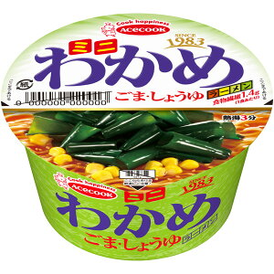 エースコック ミニわかめラーメン ごま・しょうゆ 12個入り(1ケース)(KK)