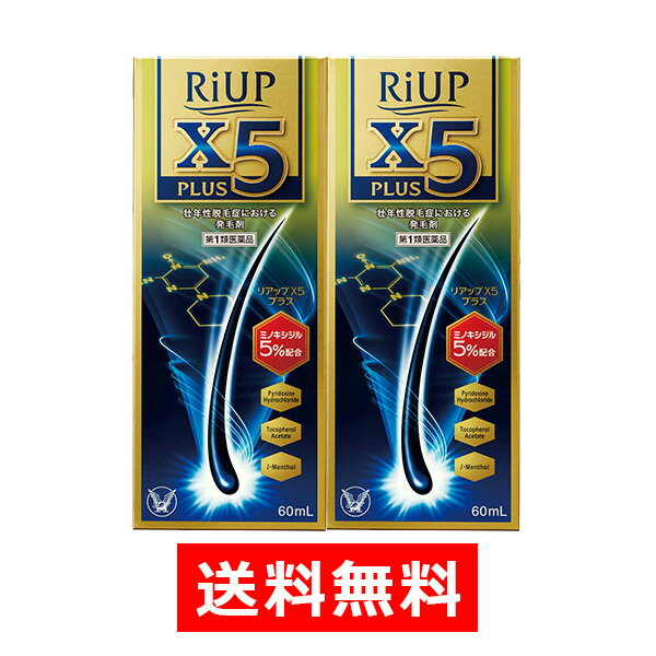 【第1類医薬品】リアップX5プラス (60mL)【2個セット】 ※要承諾 承諾ボタンを押してください 発毛剤 育毛剤 抜け毛 大正製薬