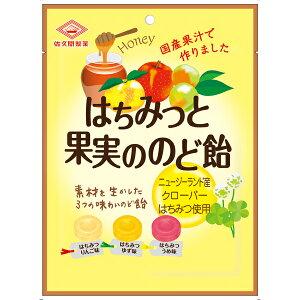 佐久間製菓 はちみつと果実ののど飴 80g×48個入り (1ケース) (YB)