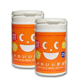 かわいい肝油+(プラス)2個セット 260g(1粒 1.1g×約250粒×2) ビタミン不足に 肝油ドロップ ビタミンA ビタミンC ビタミンD ビタミンB12 葉酸 キャッシュレス 5%消費者還元