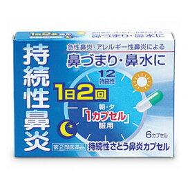 【指定第2類医薬品】持続性さとう鼻炎カプセル(6カプセル) くしゃみ 鼻水 急性鼻炎 のど 置き薬 配置薬 常備薬 奈良 佐藤薬品