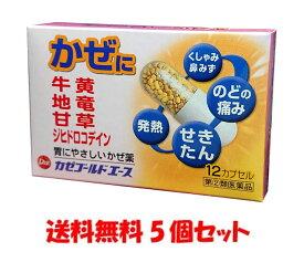 【指定第2類医薬品】カゼゴールドエース(12カプセル)5個セット かぜの諸症状 鼻水 鼻づまり くしゃみ のどの痛み せき たん 悪寒 発熱 頭痛 関節の痛み 総合感冒薬 配置薬 常備薬 富山 第一薬品