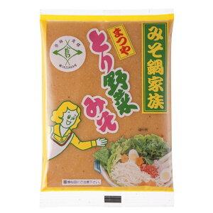 [3袋セット/1人前約98円]まつや とり野菜みそ 200g×3袋 送料無料 マルサン 鍋 みそ鍋 味噌 鍋の素 鍋スープ