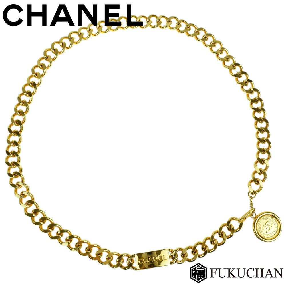 【CHANEL/シャネル】ココマーク コインモチーフ ゴールド チェーンベルト A1900 【中古】