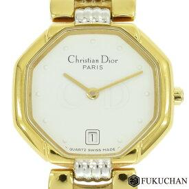 【Christian Dior/クリスチャンディオール】スウィング ウォッチ レディース 腕時計 ゴールド×シルバー 白文字盤/48.133 【中古】