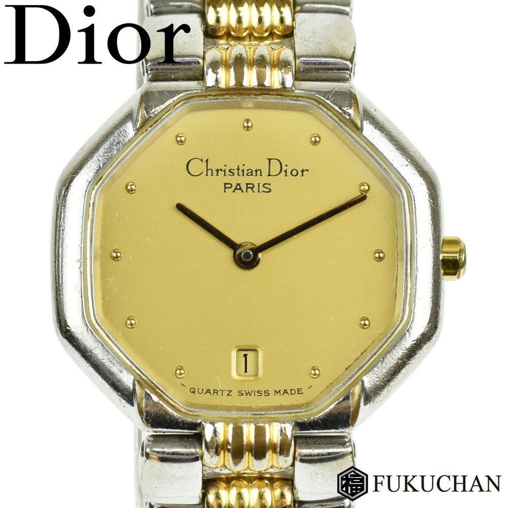 【Christian Dior/クリスチャンディオール】スウィング ウォッチ レディース 腕時計 シルバー×ゴールド ゴールド文字盤/48.203 【中古】