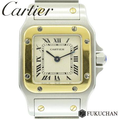 [Cartier / Cartier] Santos Garbe SM Ladies Watch SS × K18YG / Quartz W20012C4 [Pre] «Free Shipping»