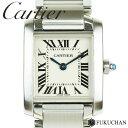 【Cartier/カルティエ】タンクフランセーズSM ホワイト文字盤 SS×QZ W51008Q3 【中古】≪送料無料≫