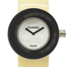 CHANEL シャネル ラ ロンド レディースウォッチ 白文字盤 腕時計 SS×エナメル シルバー×アイボリー系 H0586 【中古】【送料無料】
