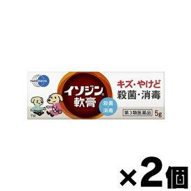 【第3類医薬品】 【メール便送料無料】イソジン軟膏 5g×2個セット 4987087041972