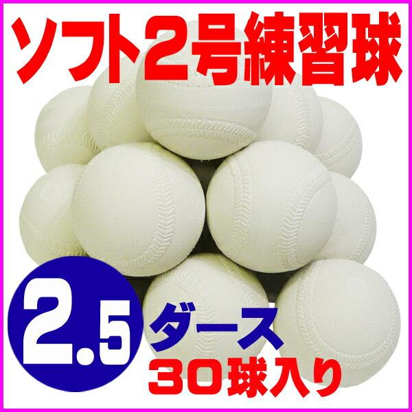 【送料無料】 超特価 ソフトボール 2号 練習球 (スリケン・検定落ち・ナイガイ製) 2.5ダース (30球入り) Training-soft2-30【02P05Nov16】【RCP】