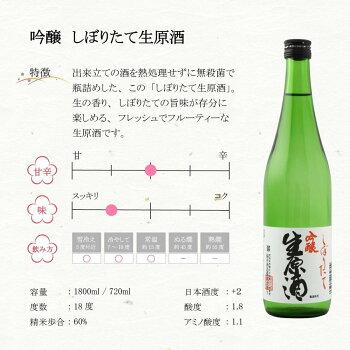 日本酒純米吟醸真しぼりたて生原酒720mlギフト贈り物に最適