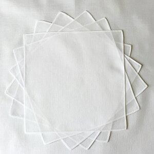 ハンカチ 白 無地 20cm10枚組 60/ローン 綿100% 染色 刺繍 ブライダルハンカチマスクの中に挟めるサイズ 日本製