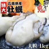 【送料無料】広島県産・ジャンボ剥きカキ1kg[解凍後約850g]