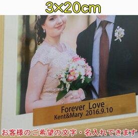 《 フジカラーフォトフレーム専用 》 名入れシール作成オプション 【サイズ:3×20cm】1枚