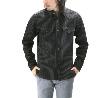 IRON HEART / iron heart Wabash stripe Western shirt IHSH-62BLK/WABASH-STRIPE WESTERN SHIRTS10P31Aug14