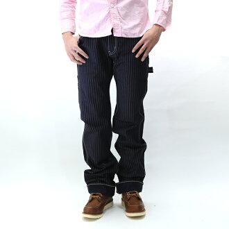 铁了心 / 铁心 12 盎司沃巴什沃巴什条纹工程师画家裤子条纹的工程师 PE 互联网男短裤 814 onewash 10P31Aug14