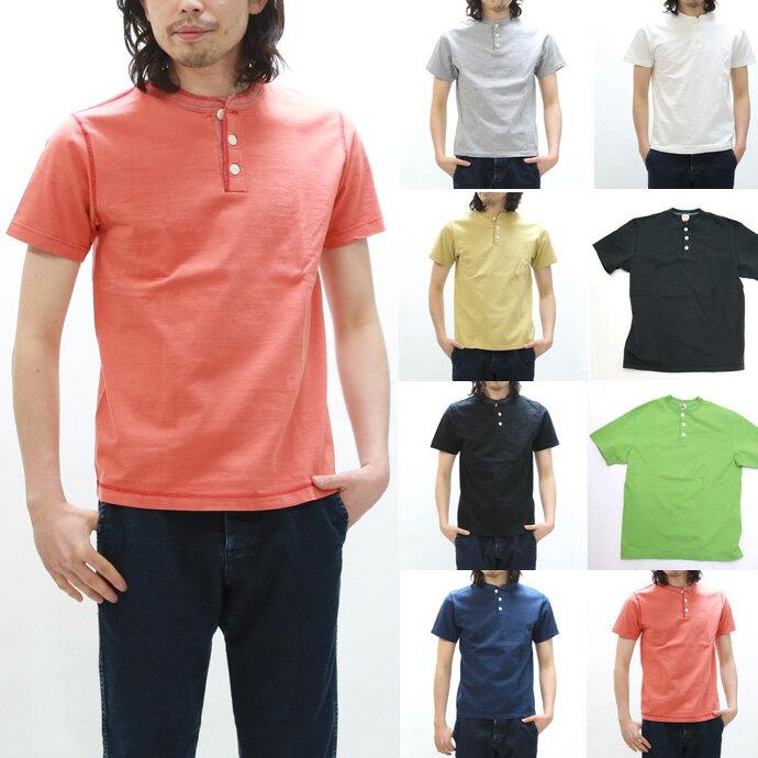 【大感謝祭マルチクーポン対象】BARNS outfitters バーンズ 半袖Tシャツ ヘンリーネック BR-8146