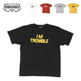 ダブルワークス 半袖Tシャツ I'M TROUBLE メンズ DUBBLEWORKS