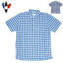 Arvor maree アルボーマレー PETITE 半袖ボタンダウンシャツ SHEETING CHECK メンズ【父の日_ラッピング対応】