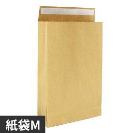 紙袋 宅配用 テープ付 M 390x260x80 茶色 50枚入