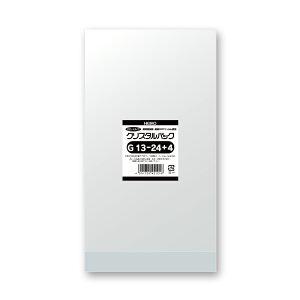 クリスタルパックG OPP袋 底マチ付き ガゼットタイプ 100枚入 G13-24+4