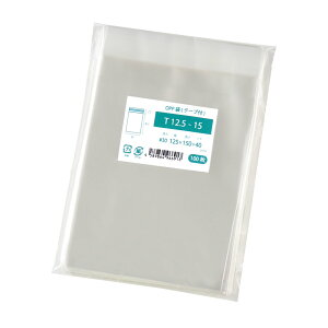 OPP袋 ミニ色紙用 色紙アート用 テープ付 1000枚 125x150mm T12.5-15