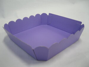 【紙】テーパートレー AT--5 パープル 【50枚】 外寸:185×185×45mm 大黒工業  (領収書対応可能)果樹 果物 容器 カラー 紙 紫 ケース フルーツ ぶどう りんご 梨 桃 ギフト シャインマスカット 供