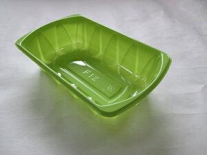 カラーフルーツケース F-12 グリーン【100枚】 193(183)×118(108)×48mm 信和 (領収書対応可能)果樹 果物 容器 緑 フルーツ ケース プラスチック ぶどう りんご 梨 桃 F12 緑 みどり