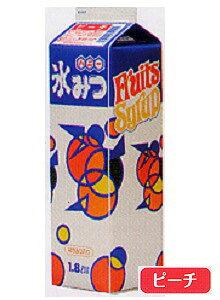 【ハニー】 氷みつ 【ピーチ】 【 容量1.8L】かき氷 みつ 蜜 シロップ