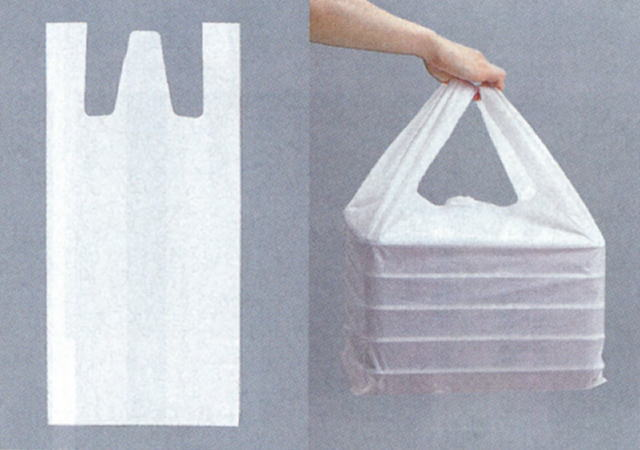 KPバックNO.52用【50枚入】【巾 635(仕上巾370)×長700mm】【福助】 (領収書対応可能) 買い物袋 乳白 底広